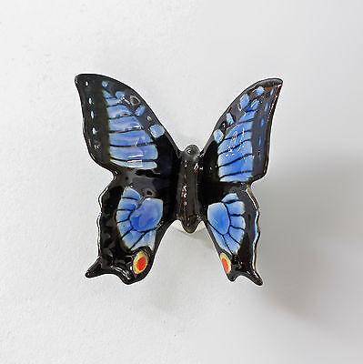 Efficiente 9997521 Porcellana Personaggio Ens Farfalla Blu B 7 Cm H 6,5 Cm-