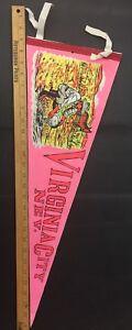 Vintage-Felt-Pennant-Flag-Virginia-City-Nevada