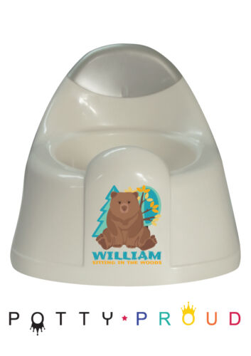 Personalised Teddy Bear Design Training Potty Kids Bespoke Toddler Boy or Girl