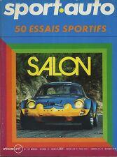 SPORT AUTO n°129 OCTOBRE 1972 GP ITALIE MATRA MS 670 SPECIAL SALON