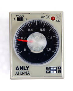 1pc industrial timer ah3 na 1s 10s 1m 10m ac220v anly taiwan