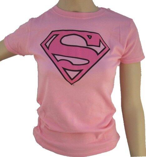 T-shirt Superman Lady Offiziel T-shirt Frau Rosa M