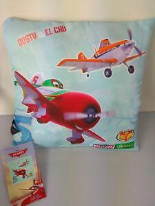 Disney-Planes-Kissen-Dusty-amp-El-Chu-Polyester-ca-40-x-40-cm