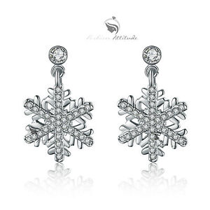 18k-white-gold-gp-made-with-SWAROVSKI-crystal-stud-earrings-snowflake