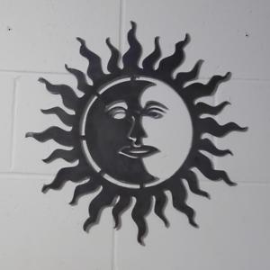 Sun /& Moon Visage Jour /& Nuit Wall Art solide en acier doux jardin ou à l/'Intérieur Cadeau