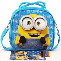Despicable Me Minions Insulated Kids Lunch Box Bag Food Container Pail