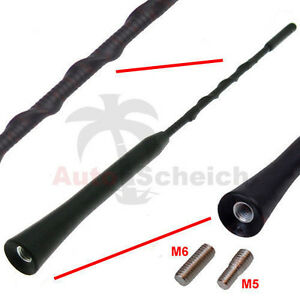 Antenne-Dachantenne-Kurzstabantenne-KFZ-Autoantenne-16V-Stabantenne-Kurz-Adapter