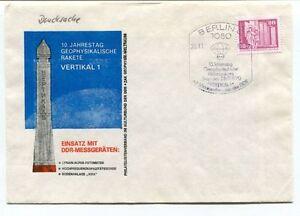 1970 Jahrestag Geophysikalische Rajete Vertikal 1 Einsatz Ddr-messgeraten Space
