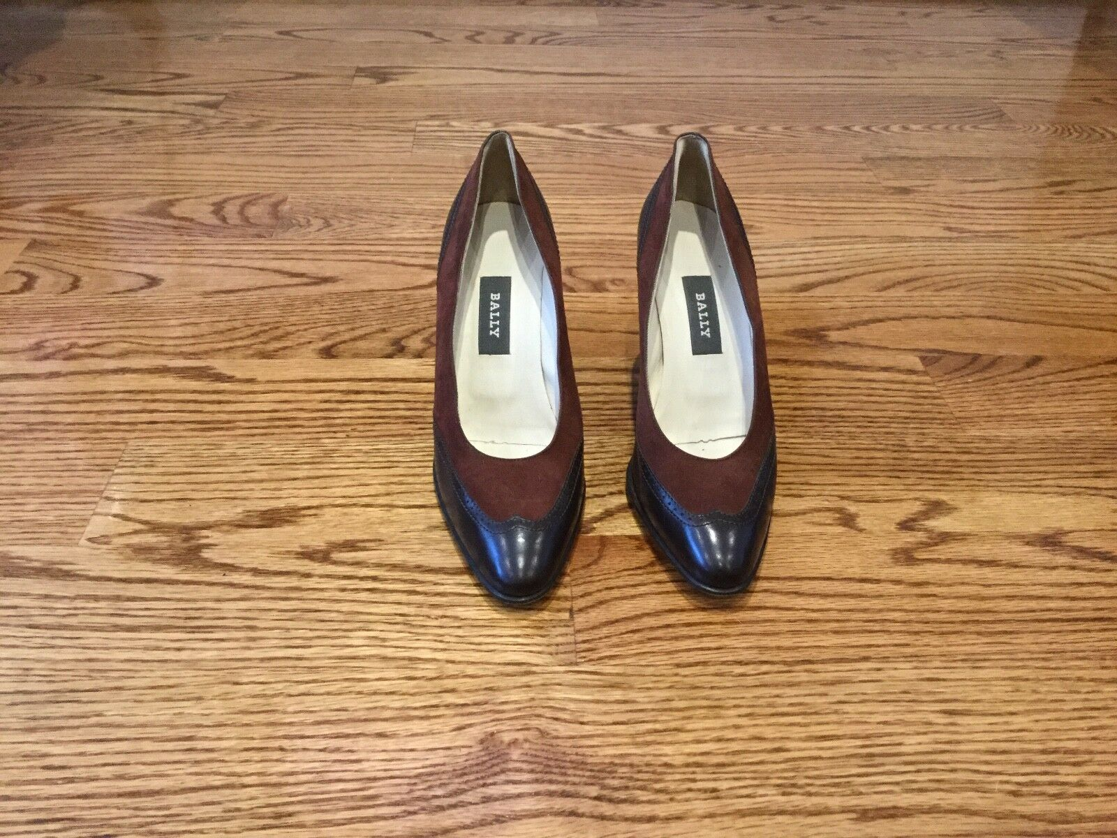 Bally Women's Brown Suede and Leather Pumps Size 7.5