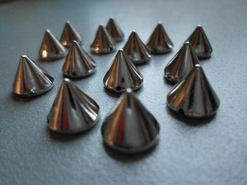 10x Metall Spikes Nieten Killernieten Silber 10mm zum Aufnähnen Top Qualität