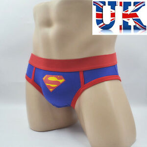 Mens-Fun-Superman-Cotton-Briefs-Medium-Large-amp-X-Large-UK-Seller