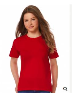 maglietta T-shirt bambina ragazza maniche corte  Exact 150// B/&C da 3 a 14 anni