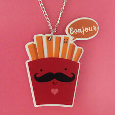 Fries Necklace Cute Kawaii Fun Kitsch Quirky Jewellery Anime Japan