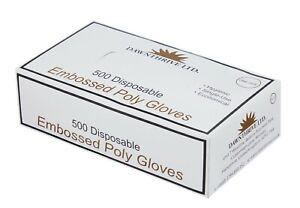 100 X 2 Disposable Plastic PE Polyethene Gloves Jupiter