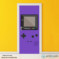 Gameboy Colour Vinyl Door Wrap Decal Sticker Self Adhesive Decor Retro Gamer