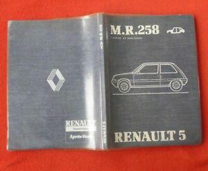 Candide Manuel D'atelier M.r. 258 Revue Technique Renault 5 Publié En 1984