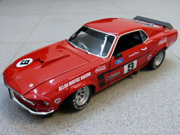 1969 Boss 302 Ford Trans Am Mustang Allan Moffat #9 Rouge Acme Excellente Qualité