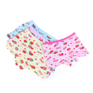 3,6 12 PACK CHILDREN GIRLS VISCOSE PANTS CUTE  BRIEFS KNICKERS KIDS UNDERWEAR