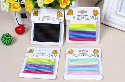 80X Fashion Girl Multicolor Elastic Hair Band Rope Scrunchie Ponytail Holder T12