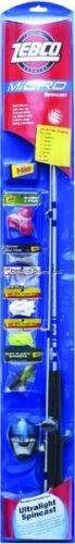 ^Zebco Flatboard Spincast Micro Combo Tackle Kit MICROSCA