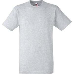 Das Bild wird geladen 10-Stk-Herren-American-T-Shirt-Grau-melange-