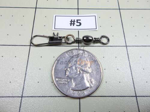 forte Ligne de pêche connecteur USA! environ 18.14 kg 100x #5 Interlock Snap Baril Pivotant 40 lb
