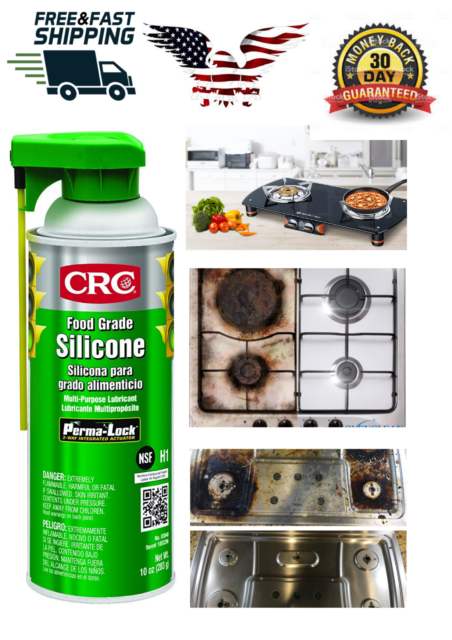 CRC Food Grade Silicone Lubricant Net Weight 10 Oz 16oz Aerosol