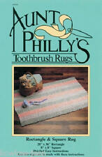 AP RECTANGLE and SQUARE toothbrush rag rug pattern AP105