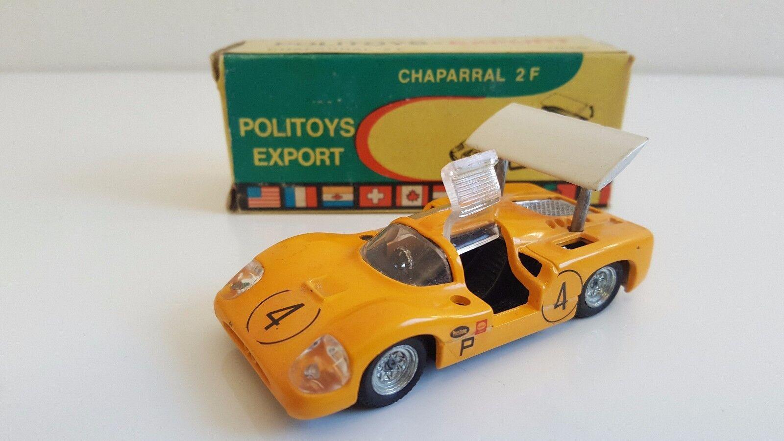 PoliJuguetes Export - Chaparral 2F amarillo en boîte d'origine (1 43)