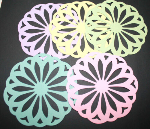 10 VINTAGE DOILY scrapboo paper die cut embellishment scrapbook *FreeShipPromo*