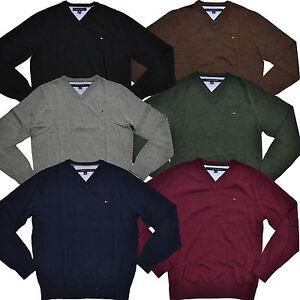 tommy hilfiger sweater pacific v neck mens pullover. Black Bedroom Furniture Sets. Home Design Ideas