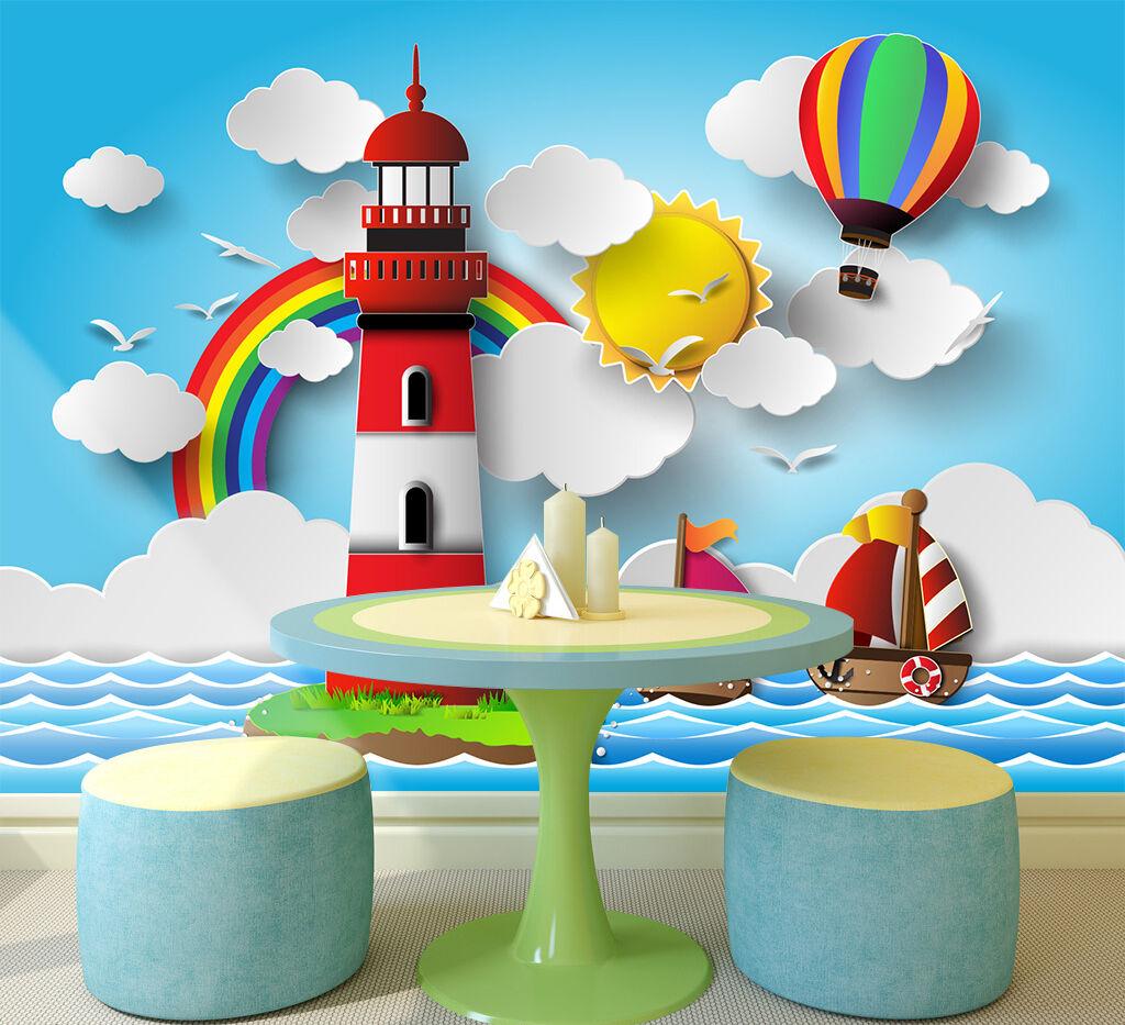 3D Beautiful Cartoon Sea 72 Wallpaper Decal Dercor Home Kids Nursery Mural  Home