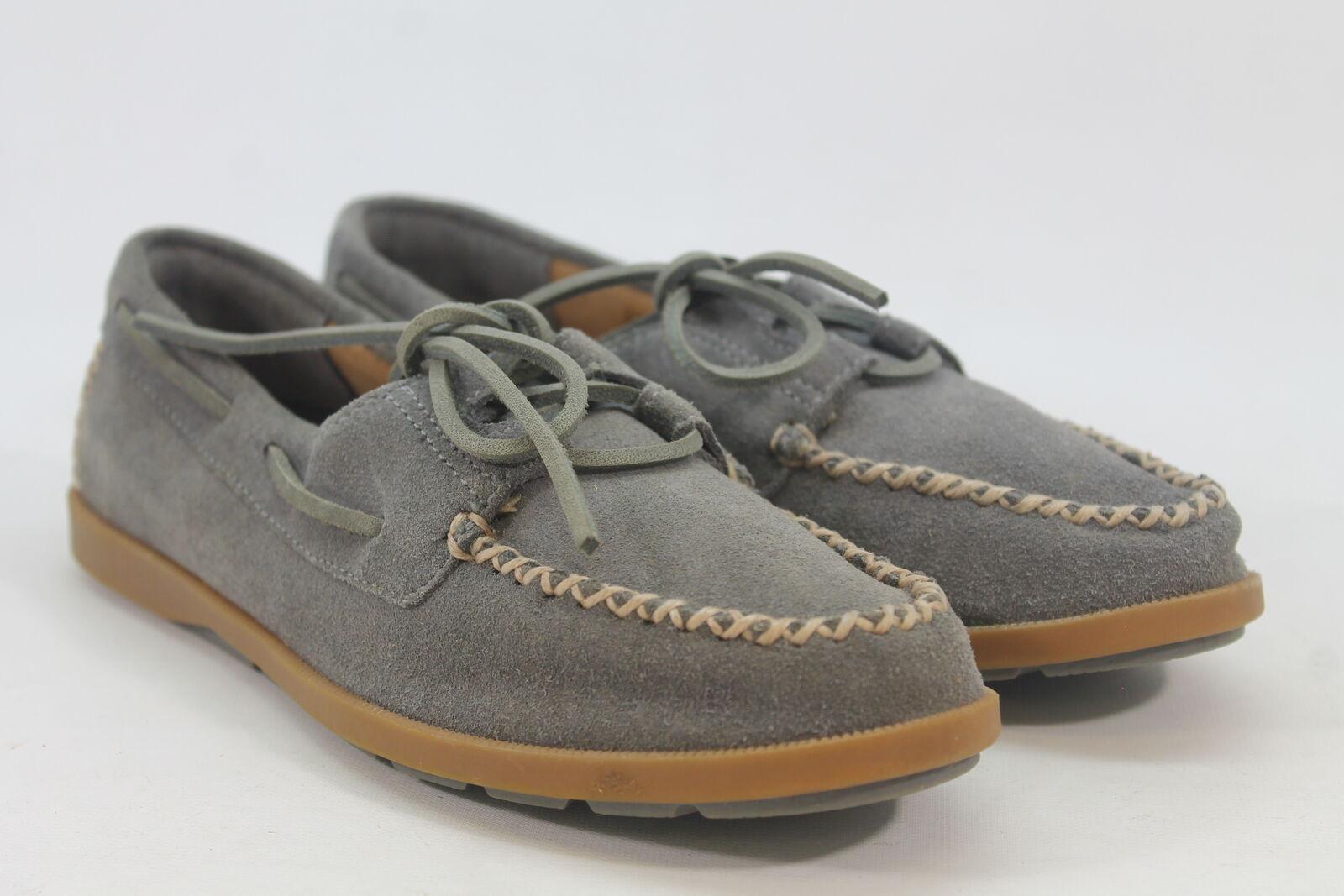 Sperry-Top Sider Leeward Women's Grey Boat Shoes 6M (ZAP12574)