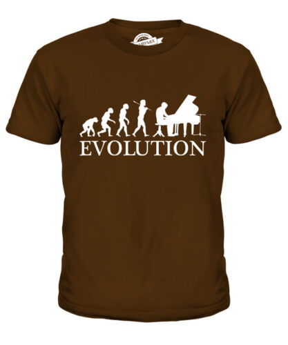 GRAND PIANO EVOLUTION OF MAN KIDS T-SHIRT TEE TOP GIFT MUSICIAN