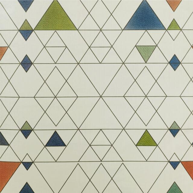 Peel And Stick Wallpaper Geometric Pattern Roll Film Self Adhesive Beige Modern For Sale Online