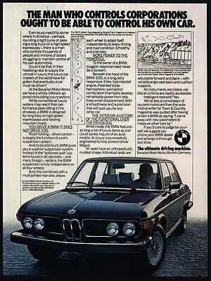 1977 BMW 530i Luxury Car People Who Own BMW Enjoy Driving VINTAGE ADVERTISEMENT