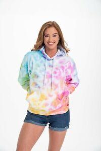 Tie Dye Rainbow  Multi Color Pullover Hoodie Sweatshirt Pocket S M L XL 2X