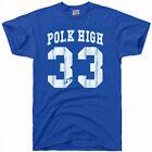 AL BUNDY polk high vintage 80s football jersey 33 costume gift gym T Shirt BLUE