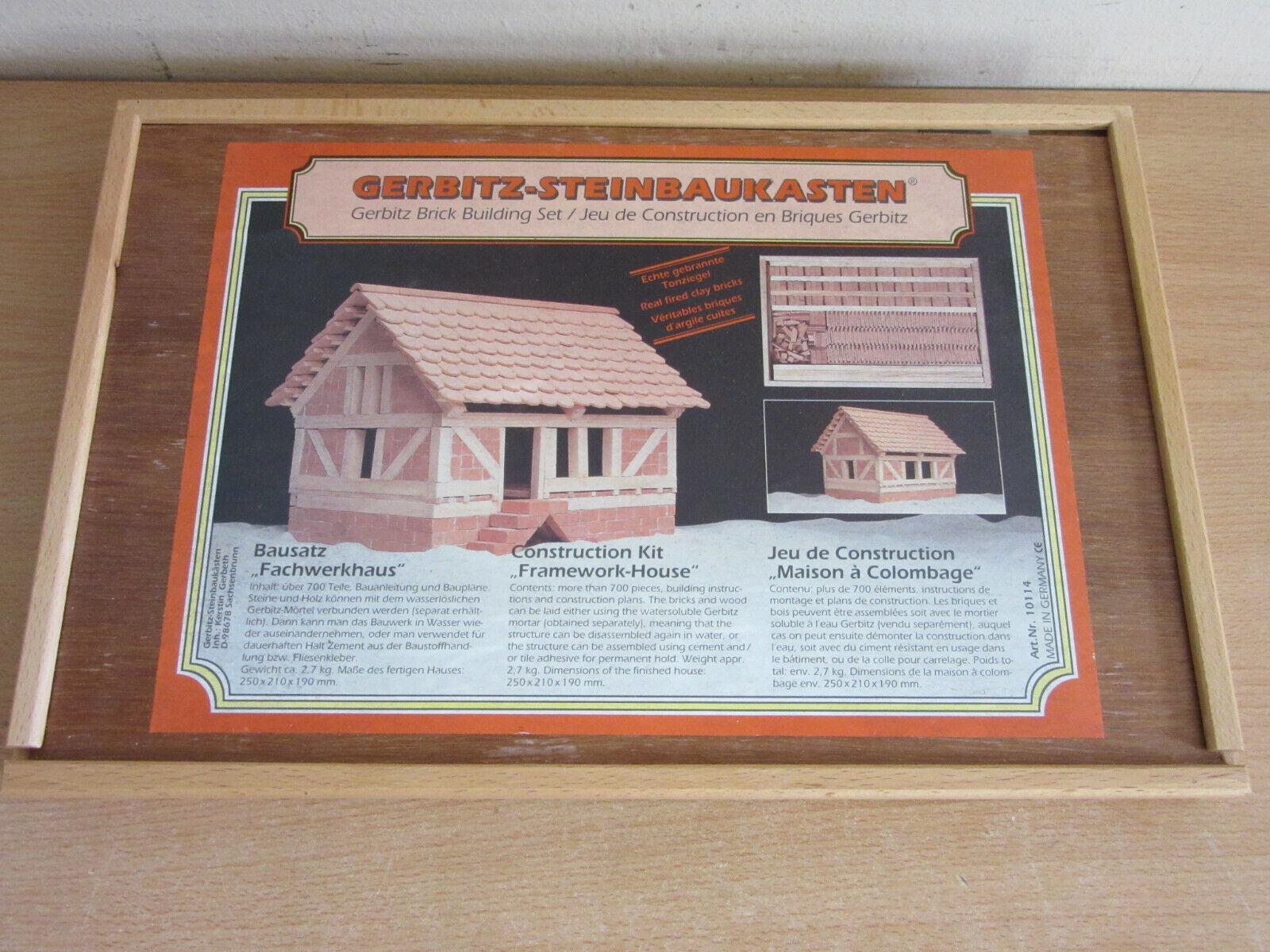 Gerbitz-Steinbaukasten Kit de construcción marco House alemán sin usar