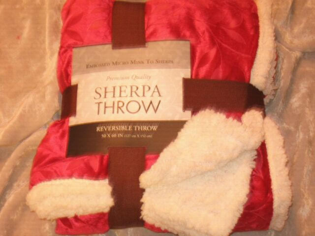 Home Trends Holiday Micro-mink Reverse To Sherpa Throw Blanket
