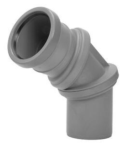 Relativ HT Bogen flexibler 0-90° verstellbar Abwasser Rohr Formstück  XF15