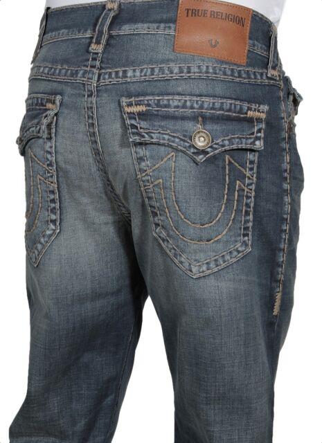 True Religion Men s Jeans Geno W Flap Super T Slim Fit ME08NYK1 DFNM  Authentic 79d2d417462f