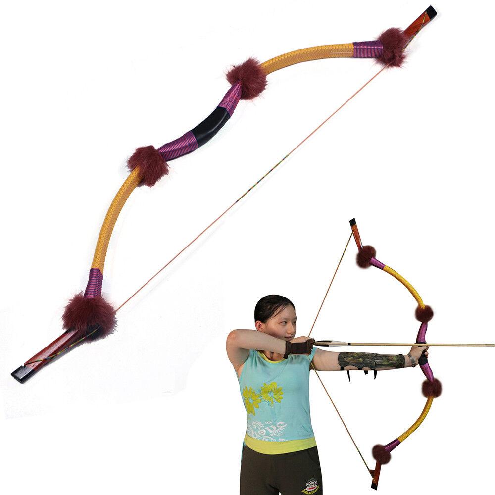 Mano Izquierda Derecha 35-55 lb caza de tiro con arco tradicional recurvo arco de destino hecho a mano