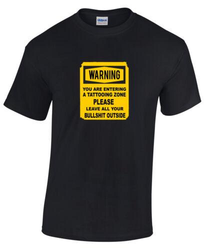 humour warning slogan T-shirt,all sizes Tattoo,Tattooist shop