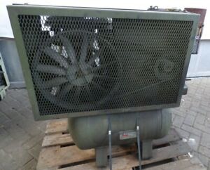 Kompressor-1-Zylinder-Lister-Petter-Motor-Industriekompressor-Mobilerkompressor