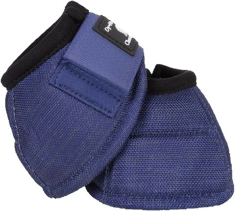Classic Equine Dyno No-Turn Overreach Horse Bell Boots Navy Blue All Sizes