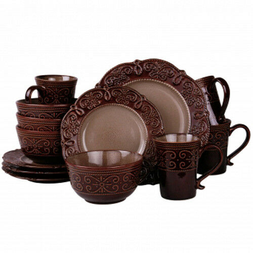 Elama Salia 16 Stoneware Dinnerware Set