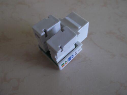White CAT5e RJ45 110 Punch Down Keystone Modular Snap-In Jacks 10 Pack Lot