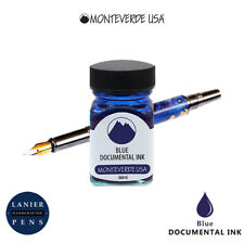 Monteverde G309du 30 Ml Fountain Pen Ink Bottle Documental Permanent Blue