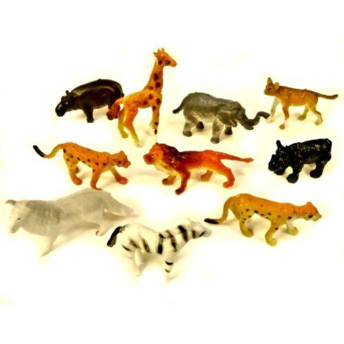 10 MINI Giocattoli in plastica Animale Giungla